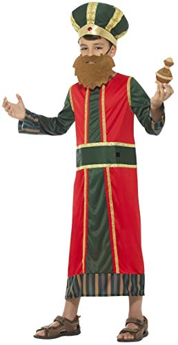 Männer Boy School Kostüm - Boys Nativity King Wise Man Christmas Xmas Festive Religious Bible Story School Play Fancy Dress Costume Outfit (4-6 years)