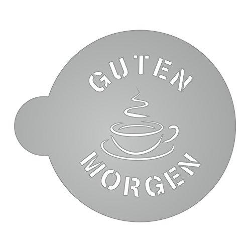 2 x Hundetatze Kaffeetasse Schablonen wiederverwendbares Geschenk cappucino Latte Caf/é
