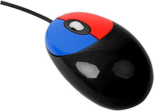 Bildungs USB Optische 3 Tasten Maus Lern - Schwarz für Kinder, Desktop, PC, Computer, Laptop / iCHOOSE