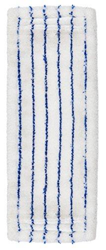 Unger 96196Z Profi Wischbezug Universal, maschinenwaschbarer Mikrofaserbezug für alle harten Böden, 2-in-1 Fixierungssystem für Flachmopp-Klapphalter bis 42cm, 100 Prozent Polyester, Weiß, 46 cm