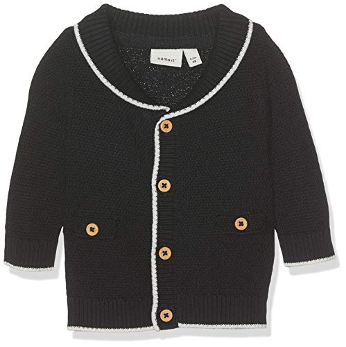 NAME IT Baby-Jungen Strickjacke NBMDABS LS Knit Card, Blau (Dark Sapphire), (Herstellergröße: 56)
