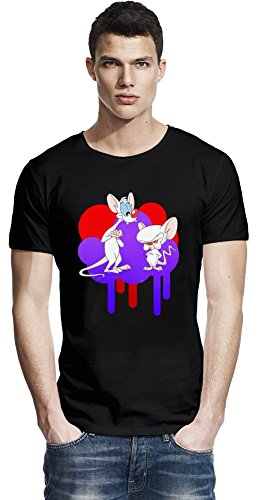Pinky And The Brain Raw Edge-T-Shirt Large -