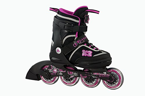 K2 Mädchen Inline Skate Set Roadie Pack Jr Girls, mehrfarbig, S, 30A0724.1.1.S