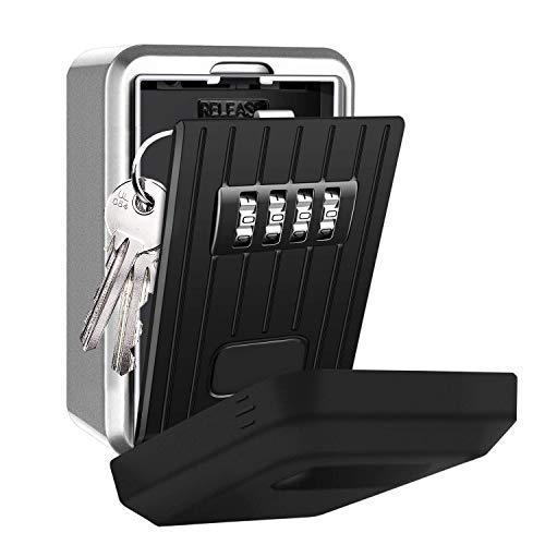 Tuipong - Caja de seguridad para llaves de montaje en pared, combinación...