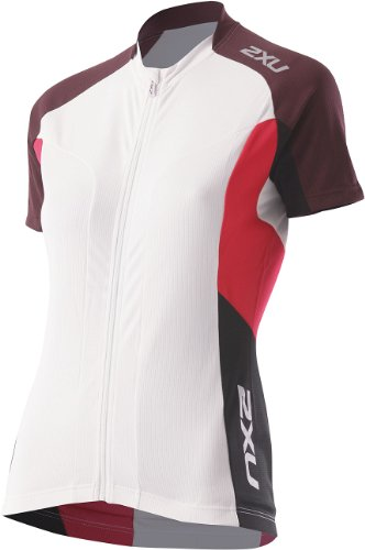 2x u Damen Road Comp Jersey, damen, White/Bluster Pink (Road White Jersey)
