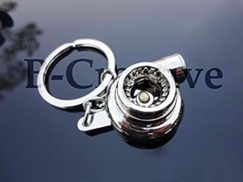 6-Speed Gearbox Gear Shifter Keychain Keyring *ACTUAL UK STOCK* Turbo Charger (Turbo Charger Chrome)
