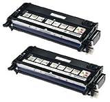 2 Schwarz PREMIUM Toner kompatibel für Dell 3110, 3110cn, 3115, 3115cn | 8.000 Seiten