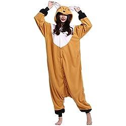 Wamvp Kigurumi Pijama Animal Unisex para Adultos Traje de Disfraz -Zorro L