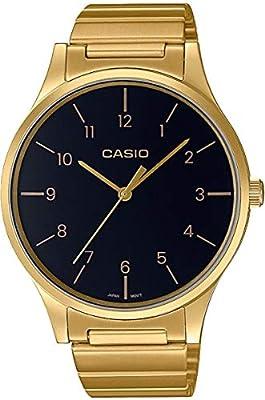 Casio Reloj Analógico para Mujer de Cuarzo con Correa en Acero Inoxidable LTP-E140GG-1BEF