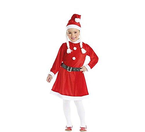 Zzcostumes Mama Noel Geflochten Kostüm GRÖßE 5-6 Jahre GRÖßE Kinder (Mama Noel Kostüm)