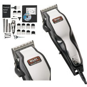 Brand New Wahl 79524-800 Chrome Pro Full Complete Home Hair Cutting Clipper Trimmer Set by Wahl - Multi Cut Clipper