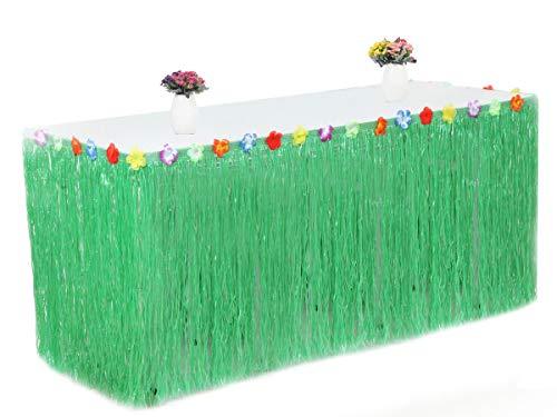 Patty beiden 1Tisch Rock Hawaiian Luau Hibiskus Tisch Rock 9ft Party Dekorationen grün