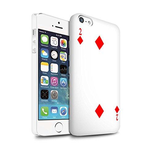 STUFF4 Matte Snap-On Hülle / Case für Apple iPhone 8 Plus / Herz-Ass Muster / Kartenspielen Kollektion 2 von Karo