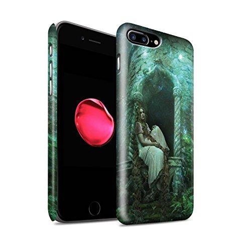 Officiel Elena Dudina Coque / Clipser Matte Etui pour Apple iPhone 8 Plus / Cheveux Dorés Design / Caractère Conte Fées Collection Cheveux Dorés