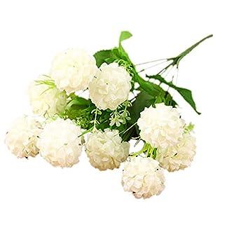 7 Ramas de Flores Artificiales del crisantemo Bola de Las Flores del Ramo Presenta Oficina hogar de la Boda fgyhty