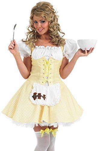 Damen Sexy Bo Peep Goldlöckchen Dorothy Märchen Kostüm Kleid Outfit UK 8-26 Übergröße - Goldlöckchen, 8-10 (Bo Peep Kostüm Kostüm)
