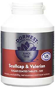 Dorwest Herbs Scullcap and Valerian Tablets for Dogs and Cats 500 Tablets by Dorwest Herbs