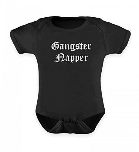 PlimPlom Hochwertiges Baby Body - Gangster Napper Baby Strampler Für Mädchen und Jungen Lustiger Baby Body Für Kleinkinder