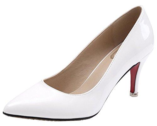 SEXYHER Peinture 2.4 de talon haut de mariage Party de bureau femmes Chaussures-SHOHE003-2.4 Blanc