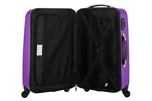 HAUPTSTADTKOFFER® 42 Liter Handgepäck · WEDDING · TSA · MATT · (in versch. Farben) + REISEADAPTER (Dunkelblau) Violett/Aubergine