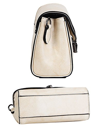Menschwear Damen Echtes Leder Umhängetasche Handtasche Blau Weiß