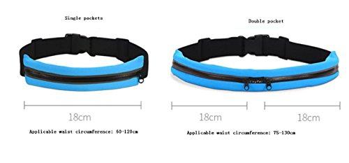 FZHLY Männer Und Frauen Outdoor Sports Taschen Mini Multifunktionale Taschen Blue(doublePockets)