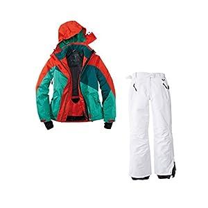 Crivit Skianzug 2tlg. Funktioneller Skianzug Für Damen M-14 Rot Grün Weiß