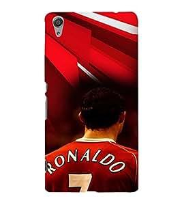 PRINTVISA Football Ronaldo Case Cover for SONY XPERIA C6