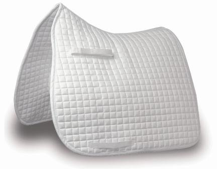 Mark Todd Traditional Dressage Pad Full Size White