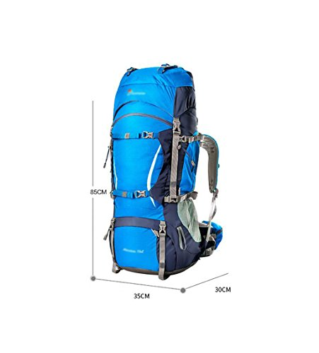 HWLXBB Outdoor Bergsteigen Tasche und Frauen 80L Wasserdichte Mehrzweck-Bergsteigen Tasche Wandern Camping Bergsteigen Freizeit Rucksack Rucksack 2*