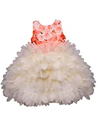 Wish Karo Baby Girls Frock Birthday Dress for Girls - Tissue - (bxa175)