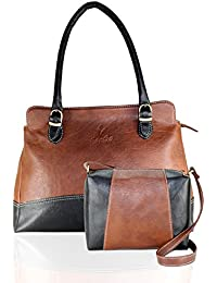 Fargo Couthy PU Leather Women's & Girl's Shoulder Handbag & Sling Bag Combo Of 2 (Brown,Black_FGO-050)