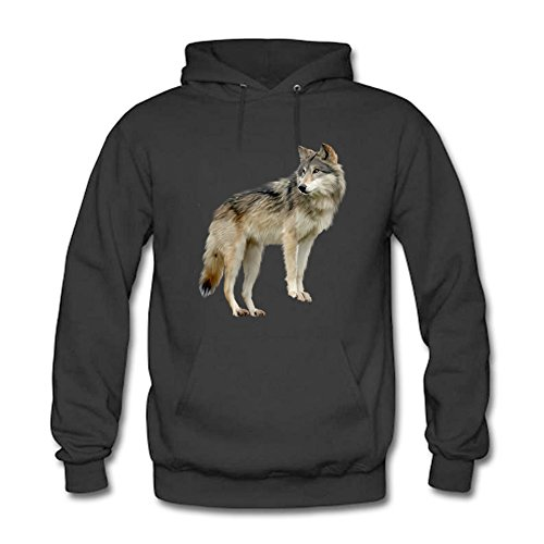 Women's Creative Cool Wolf Dog Pattern Pullover Hoodies Sweatshirts Long Sleeve Casual Unisex Tops 2XL