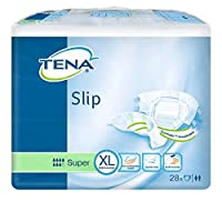 TENA Slip Super Adult Diapers, X-Large, 28 Pcs