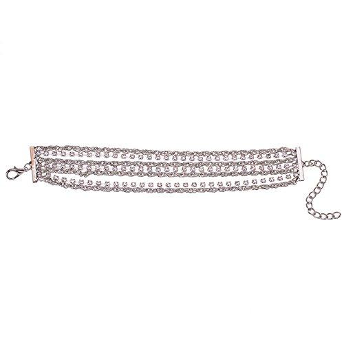 JZHJJ einfaches und stilvolles klassisches Armband Mehrschichtiges Armband des kreativen Diamanten des Schmucks populär beinhaltet: Armband,Armband Frauen,Armband männer,Armband Herren Gold