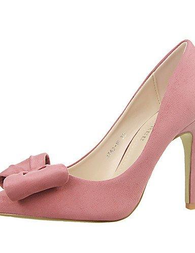 WSS 2016 Chaussures Femme-Extérieure / Bureau & Travail / Soirée & Evénement-Noir / Rose / Rouge / Gris / Fuchsia-Talon Aiguille-Talons / Bout pink-us6 / eu36 / uk4 / cn36