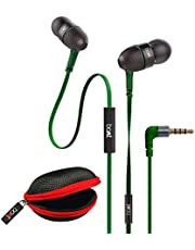 boAt BassHeads 225 Special Edition in-Ear Headphones with Mic and Carrying Case (Forest Green)