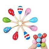Tougo 12 St¡§?ck in verschiedenen Farben,Baby Egg Maracas Musik Rattle Shaker Percussion Instrument P?dagogische Spielzeug perfekte Geschenk f¡§?r Kinder