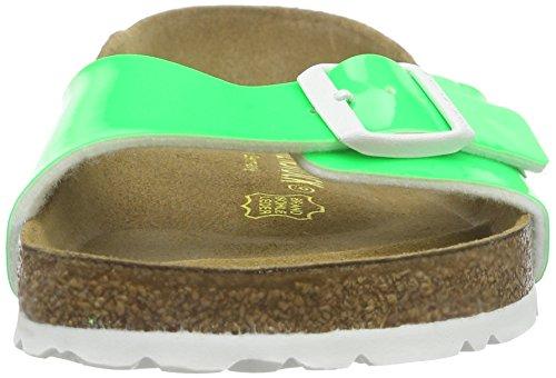 Birkenstock - Madrid Birko-Flor, Pantofole Donna Verde (Grün (Neon Green Lack))