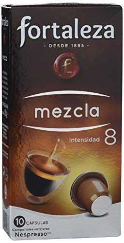 Café FORTALEZA - Cápsulas de café Mezcla Compatibles con Nespresso - Pack 5 x 10 - Total 50 Cápsulas...