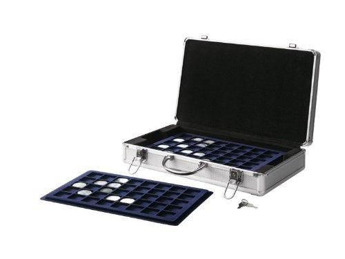 Ordex-Aluminium-Mnzkoffer-mit-5-Mnztableaus-fr-205-Mnzen