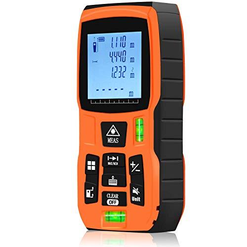 Laser Entfernungsmesser,CNMF Distanz 80M Laser Messgerät Entfernung Messen Sie Entfernung Fläche und Volumen