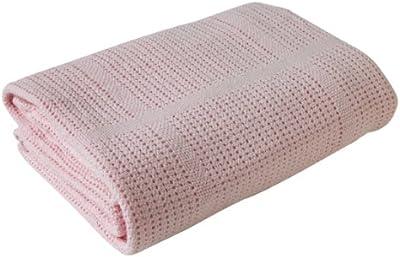 Clair de Lune Pram & Travel Manta celular algodón suave Extra (rosa)