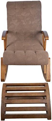 Koncept Relax Arm Chair and Leg rest (Brown)