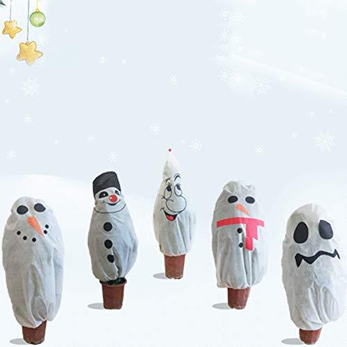 Cozyhoma Winter-Pflanzenschutzbeutel, Gartenvlies Pflanzenabdeckung Wärmende Jacken, Winterfrost kältefest Garten Gewächshaus Taschen Weihnachten Dekor -