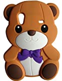 SKS Distribution� brun Silicone mignon Ours Bow Bear Etui Coque Housse Pour Samsung Galaxy Ace S5830