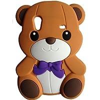 SKS Distribution® rosolare Bow Orso Bear Custodia in silicone / Cover / Case per Samsung Galaxy Ace