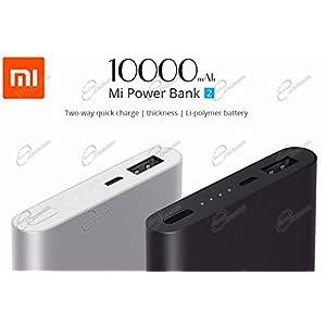 Xiaomi Mi 10000mAh Banco de energía 2 cargador de batería portátil, Ultra-compacto y más ligero Dos vías de carga rápida 10000mAh batería externa para Xiaomi nota 2 MIX, iPhone 7/6 / 6s y más, de plata