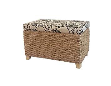 Badhocker mit wäschetruhe  Büloo Sitz- und Aufbewahrungshocker, Farbe Natur auch als ...
