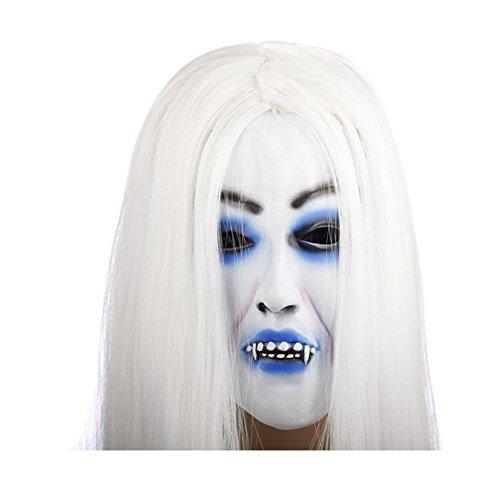 Schreckliche gruselige Toothy Ghost Maske, Halloween Kostüm Stütze Latex Gummi Halloween Maske Masquerade Masken Hot Selling (Chucky Kostüme Für Babys)